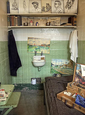 Alcatraz Photograph - Alcatraz Artist's Cell by Daniel Hagerman