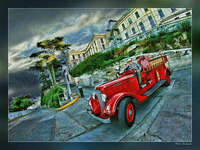 Photograph - Alcatraz Fire Department by Blake Richards