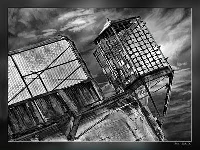 Photograph - Alcatraz Gaurd Cage Bw by Blake Richards