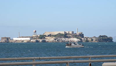 Photograph - Alcatraz Island And Charter Fishing Boat by Suzanne Cerny