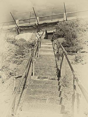 Alcatraz Photograph - Alcatraz Two-way Work Staircase by Daniel Hagerman