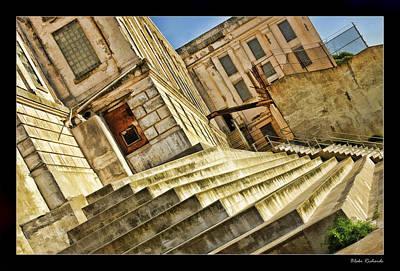 Photograph - Alcatraz Yard Steps by Blake Richards