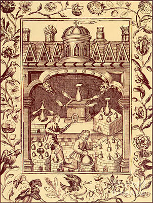 Alchemical Photograph - Alchemical Ovens by Science Source