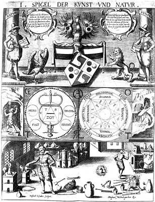 Seventeenth Century Photograph - Alchemical Treatise by Science Source