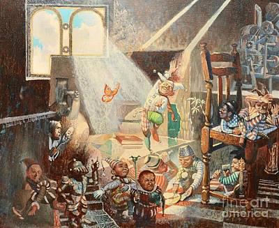 Painting - Alchemist Studio by Darko Dedic-Dechanski