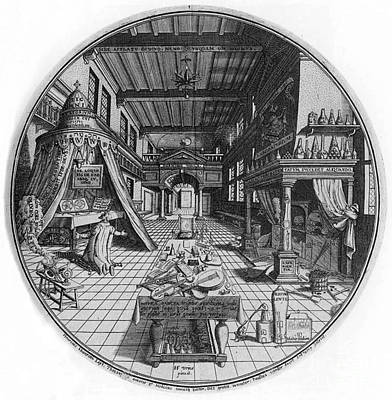Of Painter Photograph - Alchemists Laboratory, 1595 by Science Source