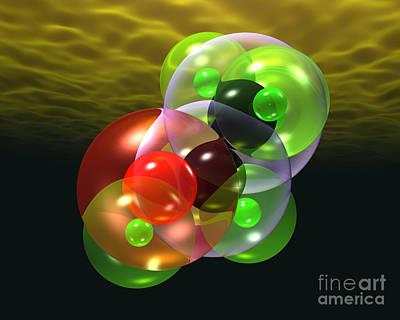 Digital Art - Alcohol Molecule 4 by Russell Kightley