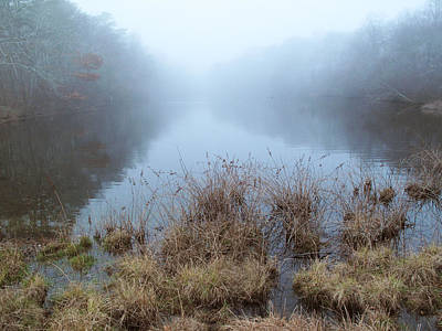 Alcotts Pond In Fog Art Print