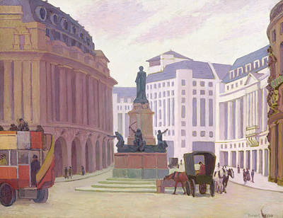 Bus Painting - Aldwych  by Robert Polhill Bevan
