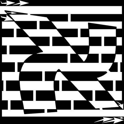 Aleph Maze Art Print by Yonatan Frimer Maze Artist