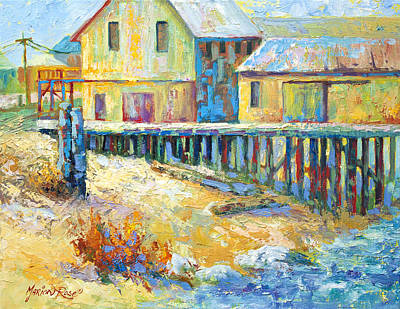 Painting - Alert Bay Cannery by Marion Rose