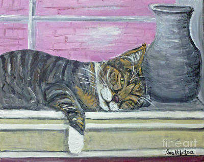 Painting - Alex On Windowsill  by Ania M Milo