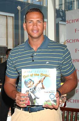 Alex Rodriguez At In-store Appearance Art Print by Everett