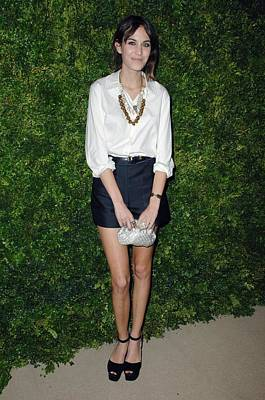 Alexa Chung Photograph - Alexa Chung At Arrivals For Cfda Vogue by Everett
