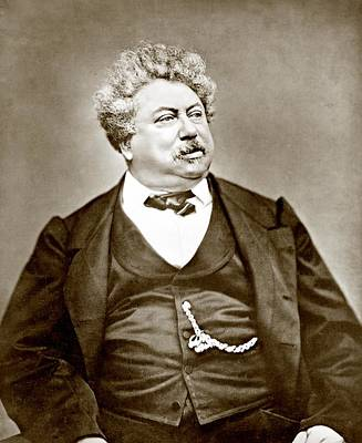 Alexandre Dumas Père 1802-1870 Popular Print by Everett