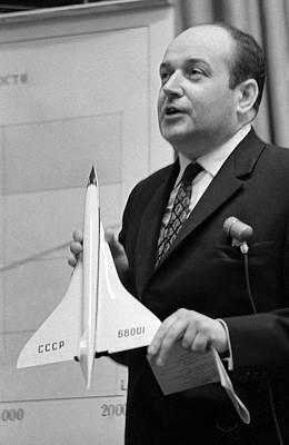 Model Aircraft Photograph - Alexei Tupolev, Soviet Aircraft Designer by Ria Novosti