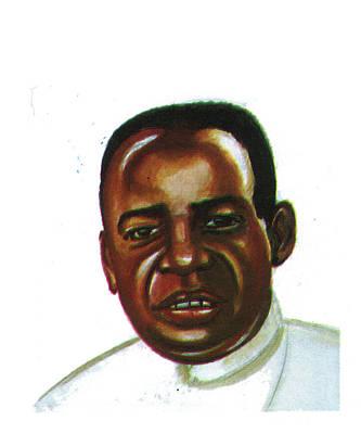 Alexis Kagame Art Print by Emmanuel Baliyanga