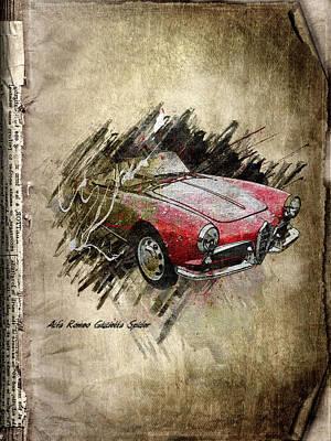 Mud Mixed Media - Alfa Romeo by Svetlana Sewell