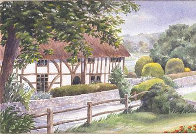 Painting - Alfriston Clergy House by Maureen Carter