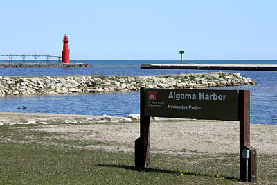Photograph - Algoma Harbor Lighthouse by Mark J Seefeldt