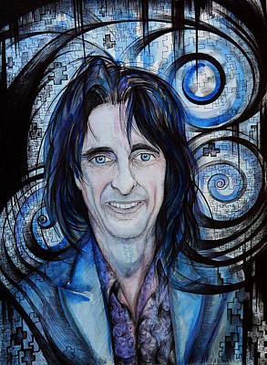 Kindred Spirits Drawing - Alice Cooper. The Kindred Spirit by Anna  Duyunova
