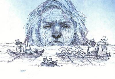 Alice Cries Me A Flood Print by Herb Russel