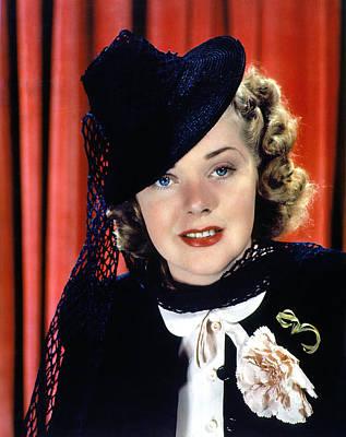 Lapel Photograph - Alice Faye, 1930s by Everett
