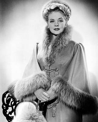 Photograph - Alice Faye, Ca. Early 1940s by Everett