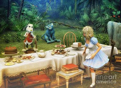 Sweet Digital Art - Alice In Wonderland by Jutta Maria Pusl