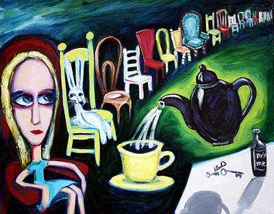 Tea Party Painting - Alice's Choice by Leanne Wilkes