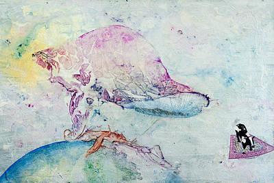 Veneta Painting - Alien Cow Innoculates Earth by Paul Brink