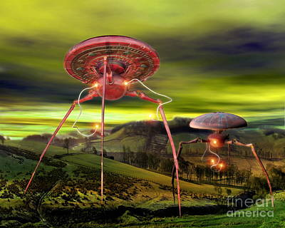 Digital Art - Alien Invasion by Victor Habbick Visions and Photo Researchers