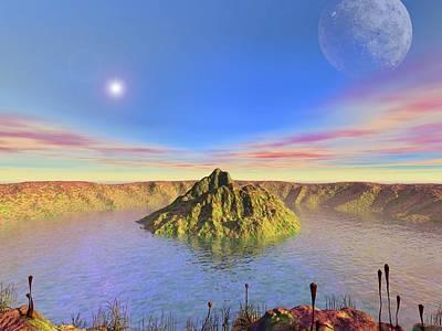 Alien Lake, Conceptual Artwork Art Print