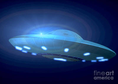 Photograph - Alien Spacecraft by Gregory MacNicol and Photo Researchers