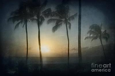 Beach Sunset Digital Art - Alii Kahekili Nui Ahumanu Beach Kaanapali Maui Hawaii by Sharon Mau