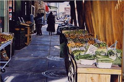 Painting - Alioto's Produce by James Guentner