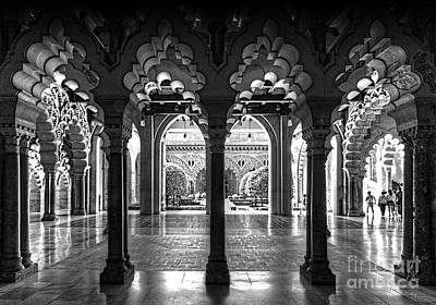 Aljaferia Palace I Bw Art Print by Jack Torcello