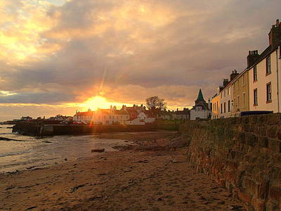 Anstruther Photograph - All A Glow by Laura McGlinn Photography
