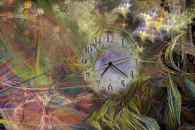 Abstract Movement Digital Art - All About Time by Betsy Knapp