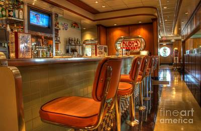 All American Diner 3 Art Print by Bob Christopher