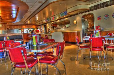 All American Diner 5 Art Print by Bob Christopher