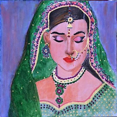 Indian Wedding Painting - All Dressed Up by Salomi Prakash