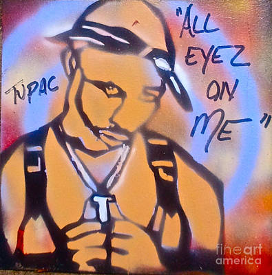 Free Speech Painting - All Eyez On Me by Tony B Conscious