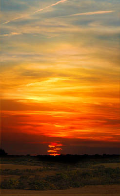 Art Print featuring the photograph All Hallows Eve Sunset by Rod Seel