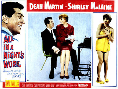 All In A Nights Work, Dean Martin Art Print by Everett