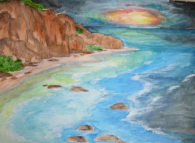 Art Print featuring the painting All Is Calm - Wcs by Cheryl Pettigrew