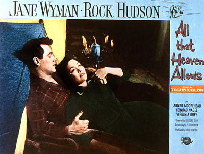 1955 Movies Photograph - All That Heaven Allows, Rock Hudson by Everett