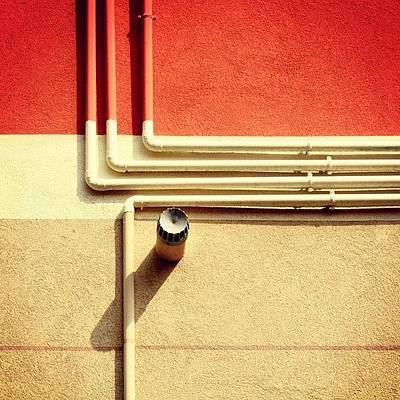 Texture Photograph - All That Jazz #geometry #color #pipes by A Rey