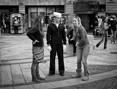 Sailors Girl Photograph - All The Girls Love A Sailor by Michael Avory