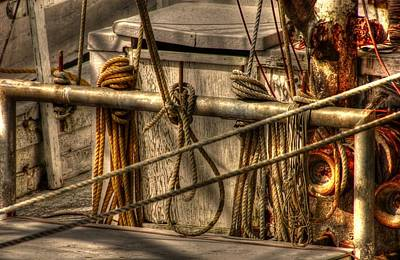 Coastal Photograph - All Tied Up by Greg and Chrystal Mimbs